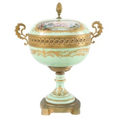 Gilt Bronze Mounted / Sevres Porcelain Covered Urn