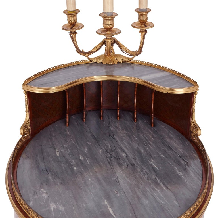 Gilt Bronze-Mounted Tulipwood, Sycamore and Marquetry Writing Table by Dasson  In Good Condition For Sale In London, GB