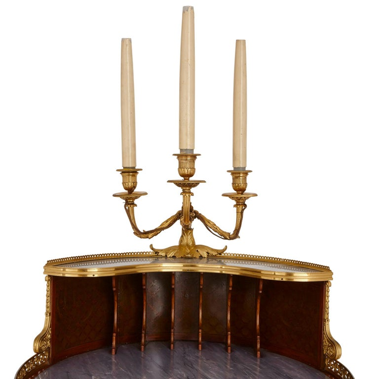 Late 19th Century Gilt Bronze-Mounted Tulipwood, Sycamore and Marquetry Writing Table by Dasson  For Sale