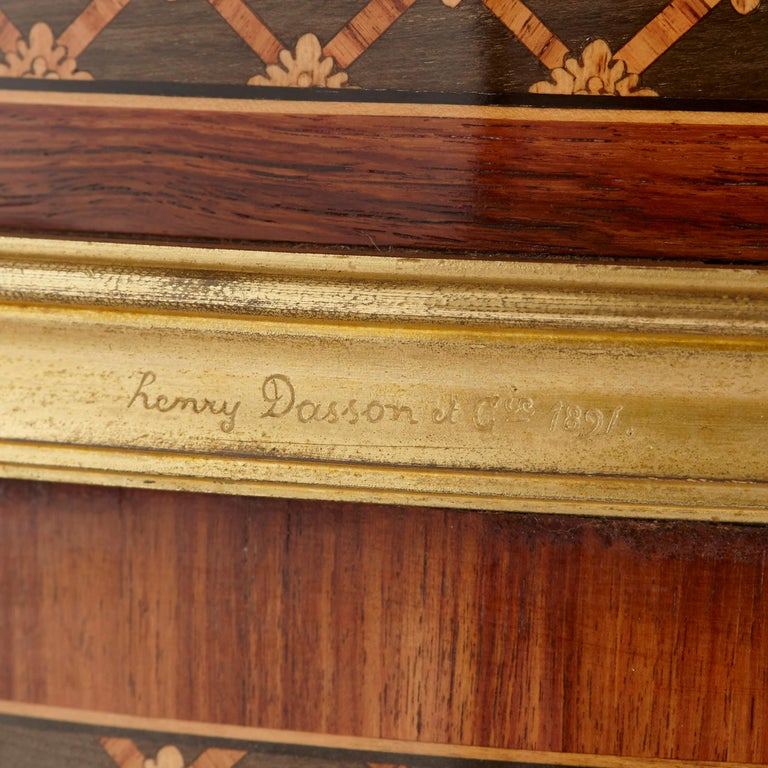 Gilt Bronze-Mounted Tulipwood, Sycamore and Marquetry Writing Table by Dasson  For Sale 1