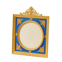 Gilt Bronze Photo Frame with a Blue Enamel Ground, French, circa 1900