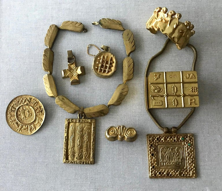 Gilt Bronze Reliquary Pendant by Line Vautrin For Sale 1