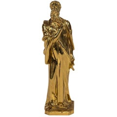 Gilt Bronze Scholar Sculpture