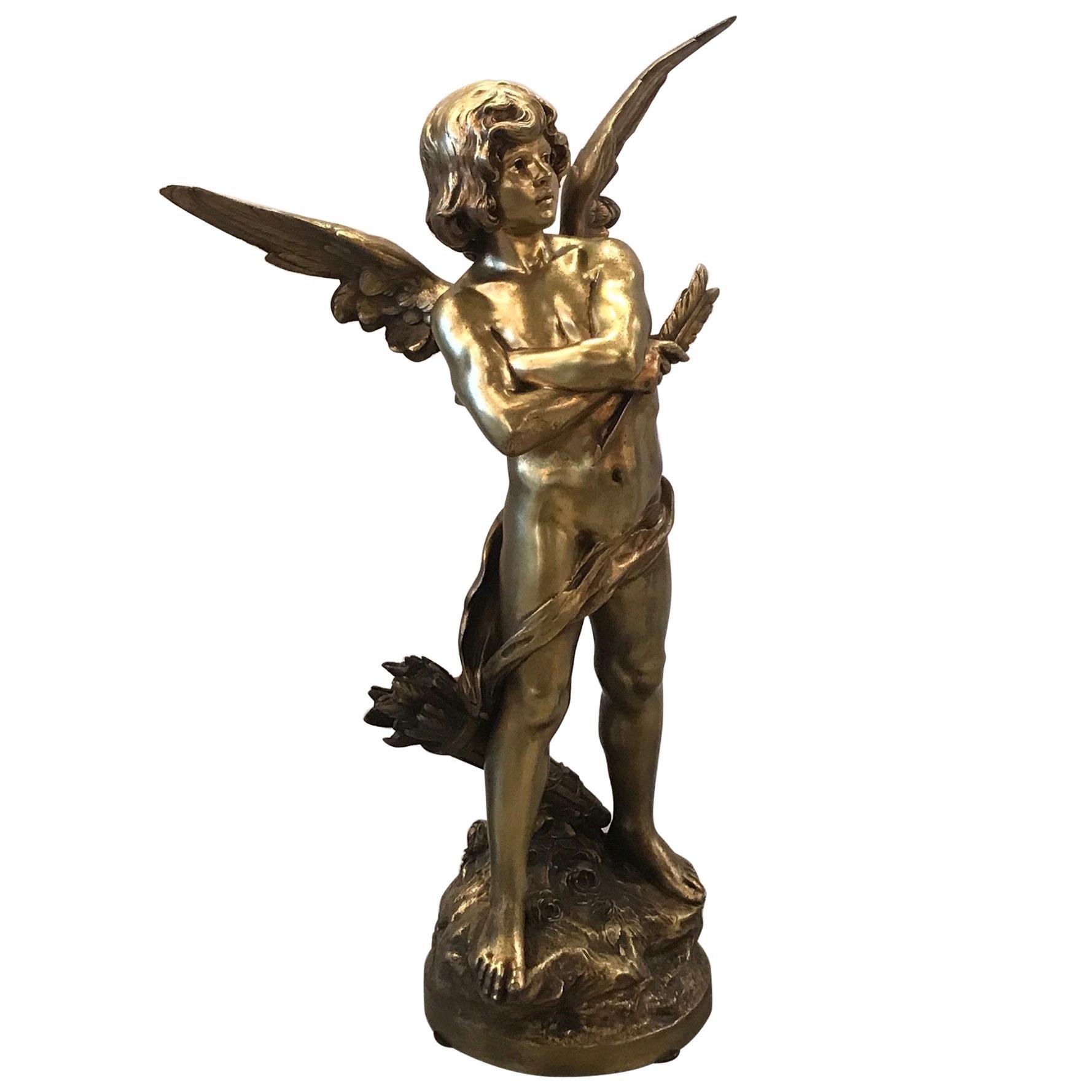 Gilt Bronze Sculpture of Cupid, France