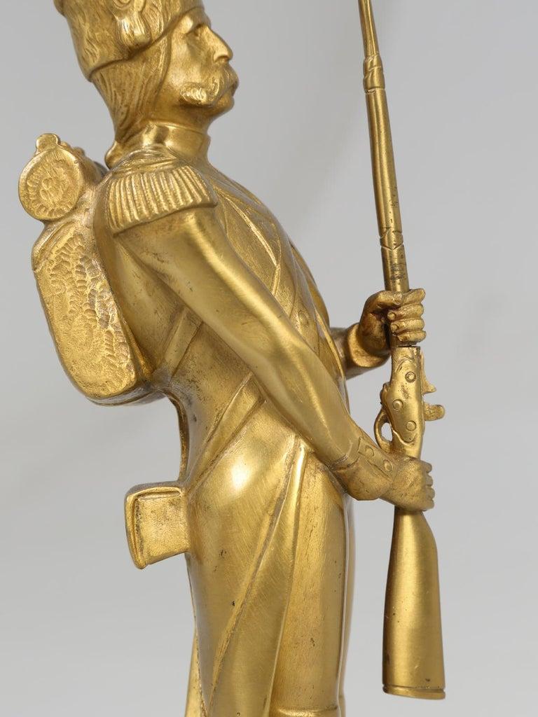 Gilt Bronze Soldier Sculpture by Medwedsky For Sale 7