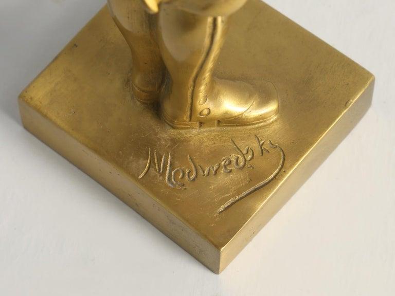 Gilt Bronze Soldier Sculpture by Medwedsky For Sale 11