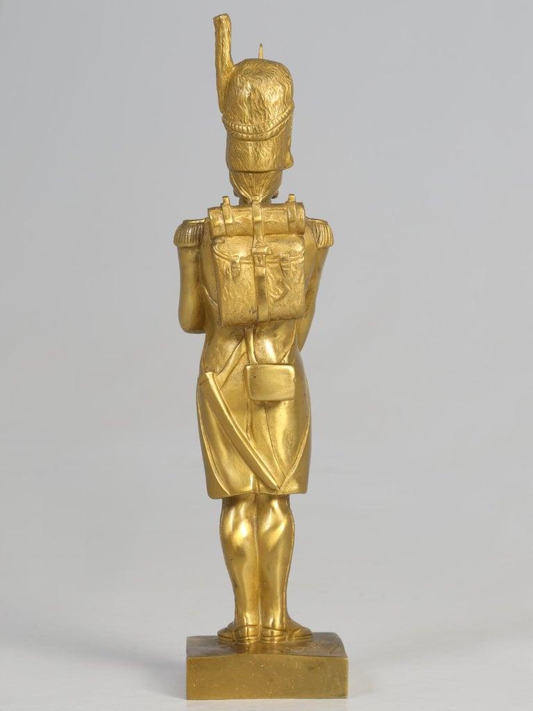 Gilt Bronze Soldier Sculpture by Medwedsky For Sale 12