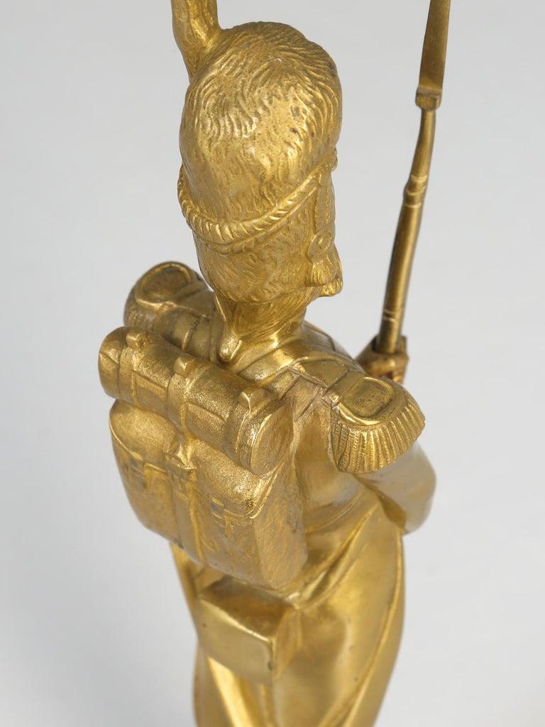Gilt Bronze Soldier Sculpture by Medwedsky For Sale 13