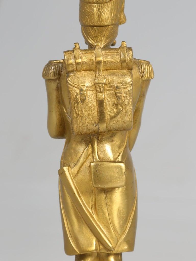 Gilt Bronze Soldier Sculpture by Medwedsky For Sale 14