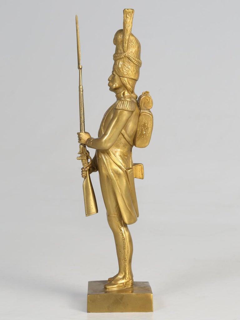 Gilt Bronze Soldier Sculpture by Medwedsky For Sale 1