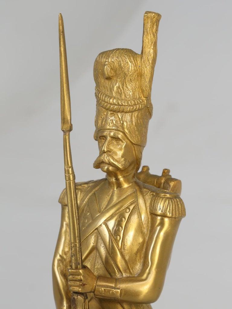 Gilt Bronze Soldier Sculpture by Medwedsky For Sale 2