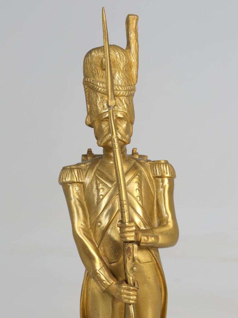 Gilt Bronze Soldier Sculpture by Medwedsky For Sale 3
