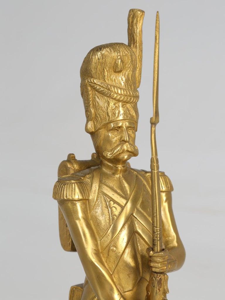 Gilt Bronze Soldier Sculpture by Medwedsky For Sale 4