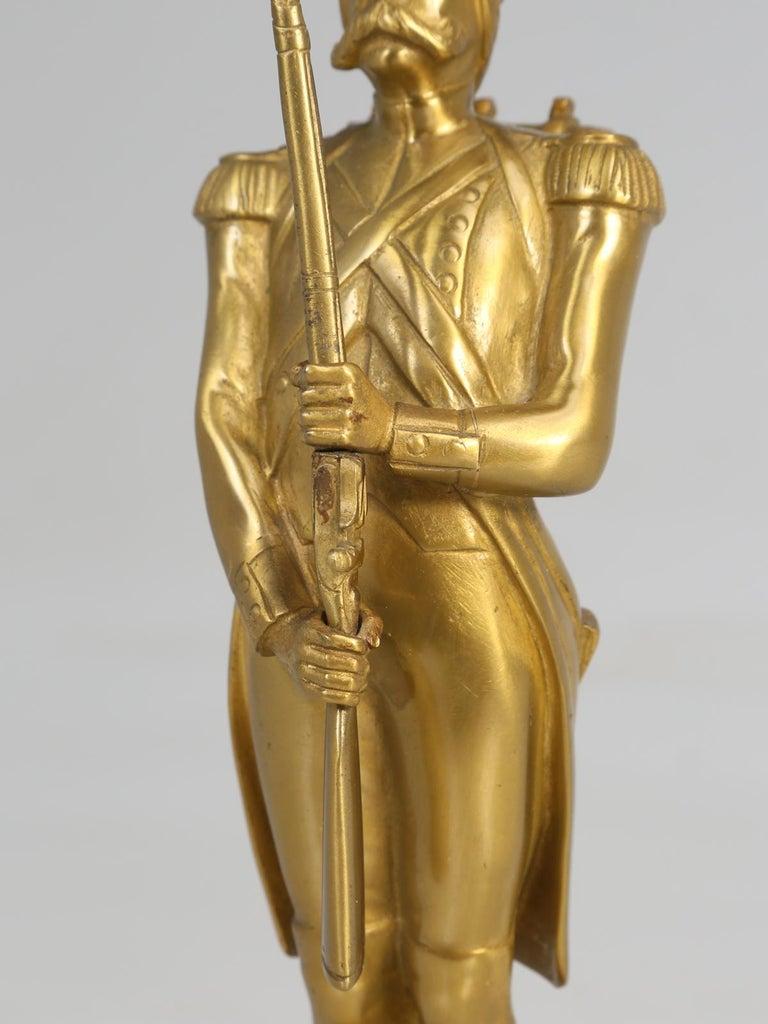 Gilt Bronze Soldier Sculpture by Medwedsky For Sale 5