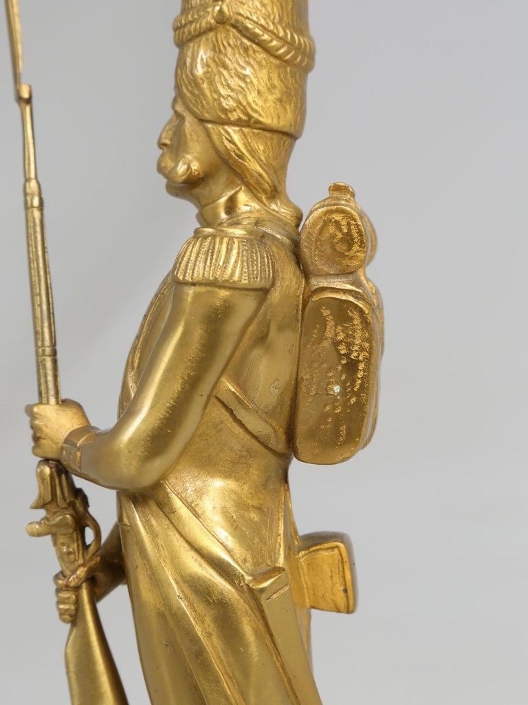 Gilt Bronze Soldier Sculpture by Medwedsky For Sale 6