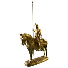 Gilt Bronze Statue of Louis d'Orleans by Emmanuel Fremiet