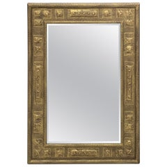 Gilt Brutalist Mirror, by Harris Strong
