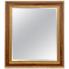 Gilt Burl Framed Mirror