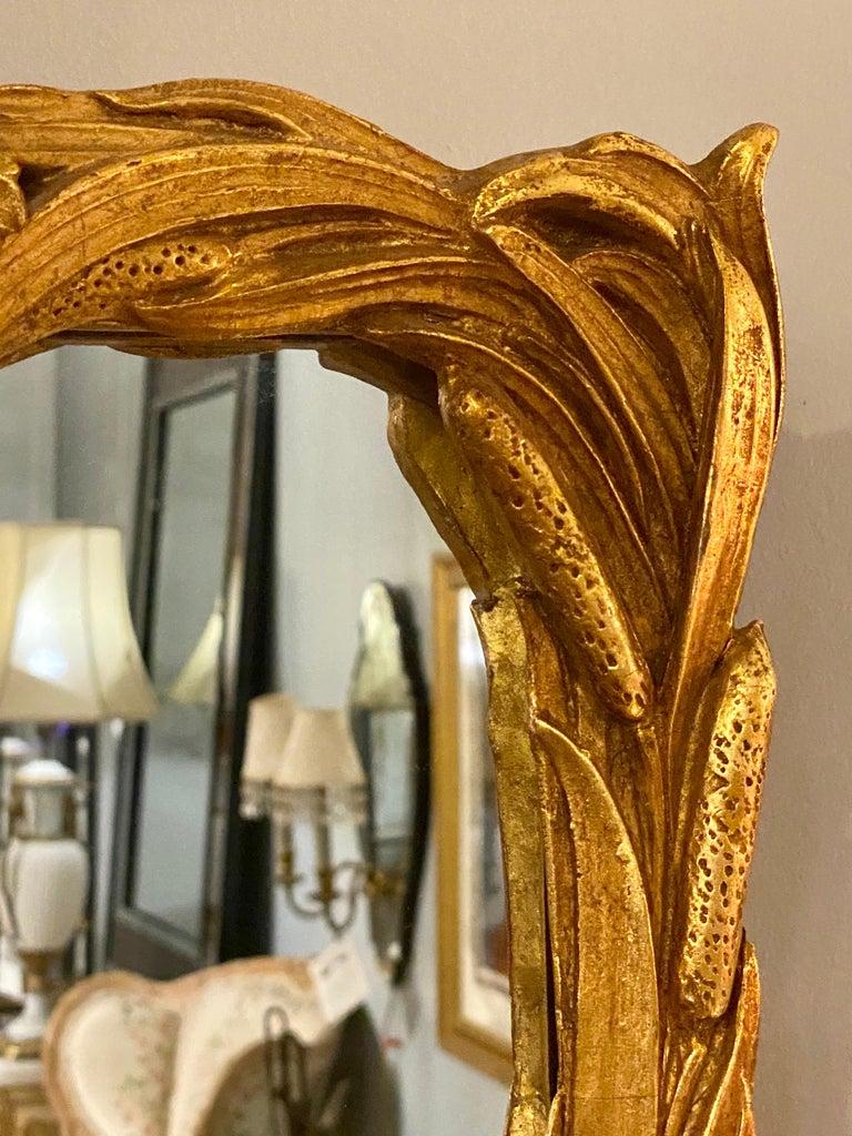Gilt Carved Shell Motif Italian Mirror 1