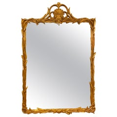 Gilt Carved Shell Motif Italian Mirror
