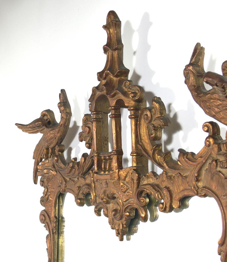 American Gilt Chinese Chippendale or Chinoiserie Mirror For Sale