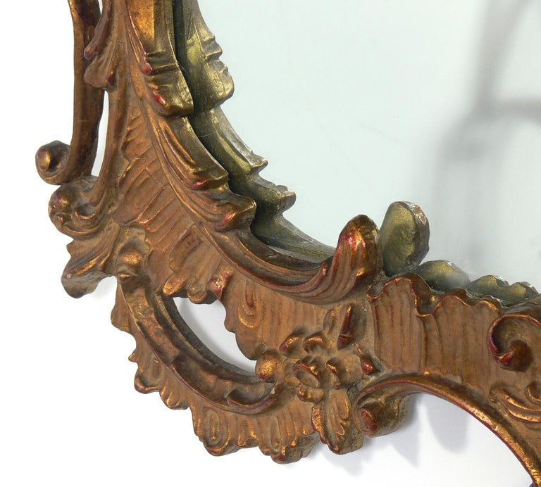 Gilt Chinese Chippendale or Chinoiserie Mirror In Good Condition For Sale In Atlanta, GA