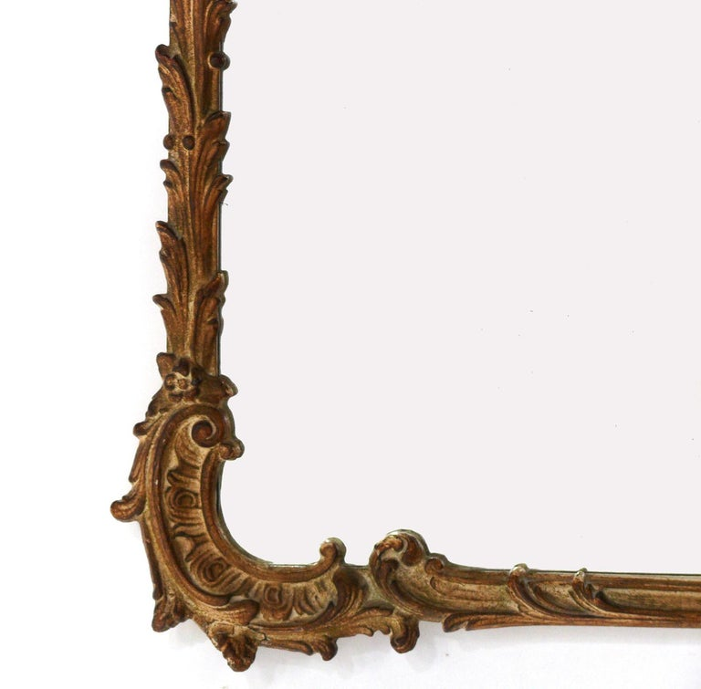 Mid-20th Century Gilt Chinoiserie Mirror, circa 1940s For Sale