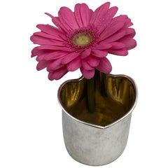 Gilt Continental Silver Vase by Broggi