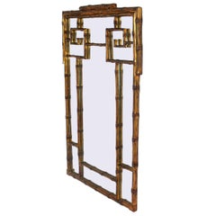 Gilt Faux Bamboo Mirror