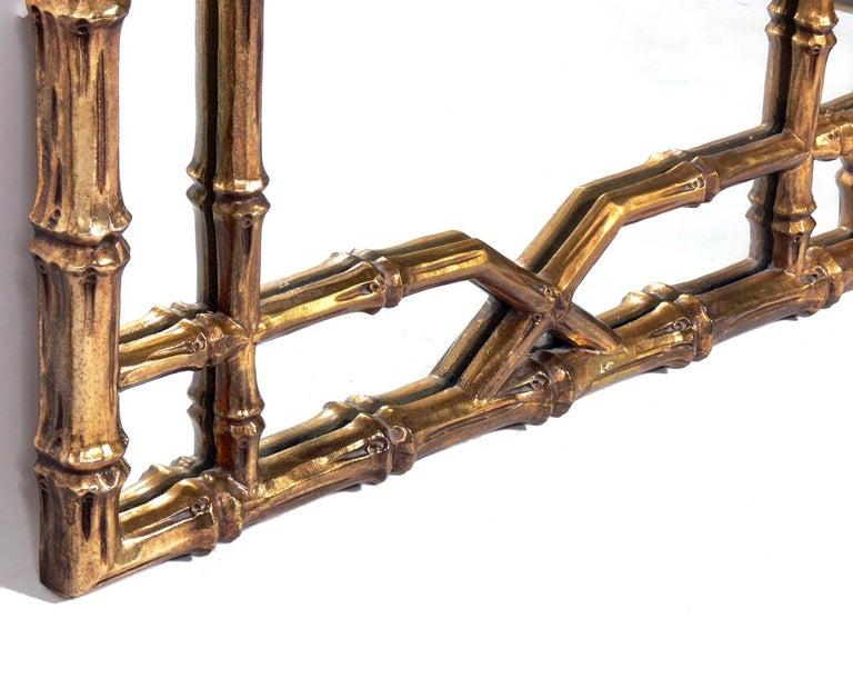 Gilt Faux Bamboo Mirrors, circa 1950s In Good Condition For Sale In Atlanta, GA