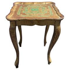 Gilt Finish Florentine Side Table