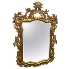 Gilt Framed Beveled Glass Mirror
