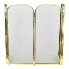 Gilt Framed / Black Mesh Fire Place Screen