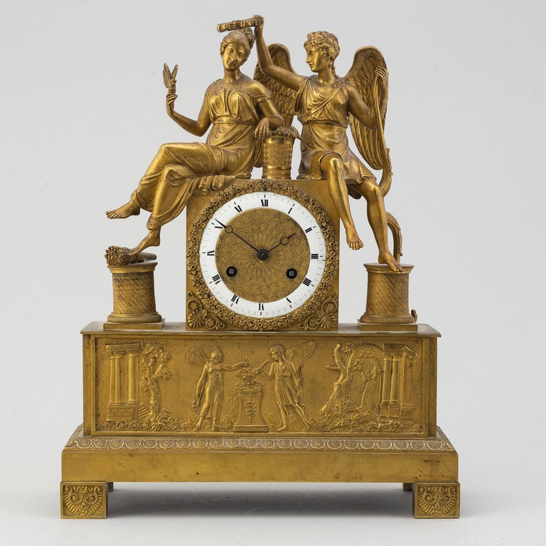 A French Empire table clock, first half of the 19th century.