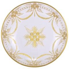 Gilt French Hand-Cut Glass Bowl, 19th Century