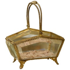 Gilt Glass Trinket Display Box-Napoleon III