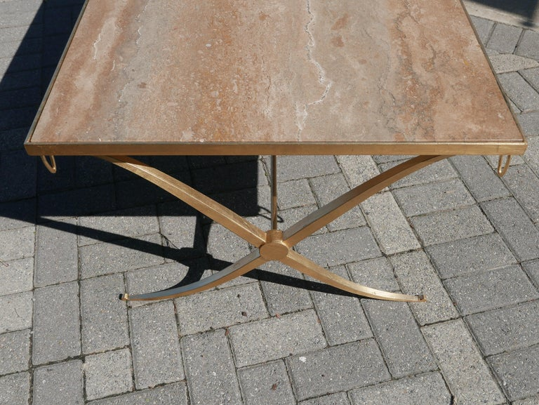 American Gilt Iron Coffee Table by Barbara Barry For Sale