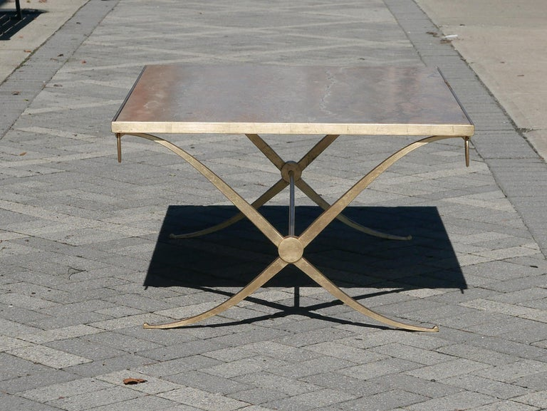 Gilt Iron Coffee Table by Barbara Barry In Good Condition For Sale In Kilmarnock, VA