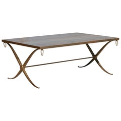 Gilt Iron Coffee Table by Barbara Barry