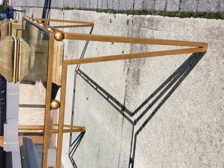 Modern Gilt Iron Coffee Table Manner of Marc du Plantier For Sale