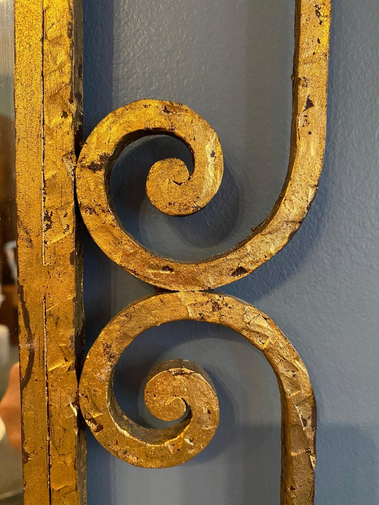 Gilt Iron Italian Console and Mirror For Sale 5