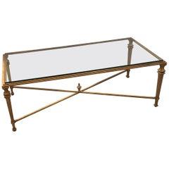 Gilt Iron Rectangular Coffee Table in the Style of Maison Jansen