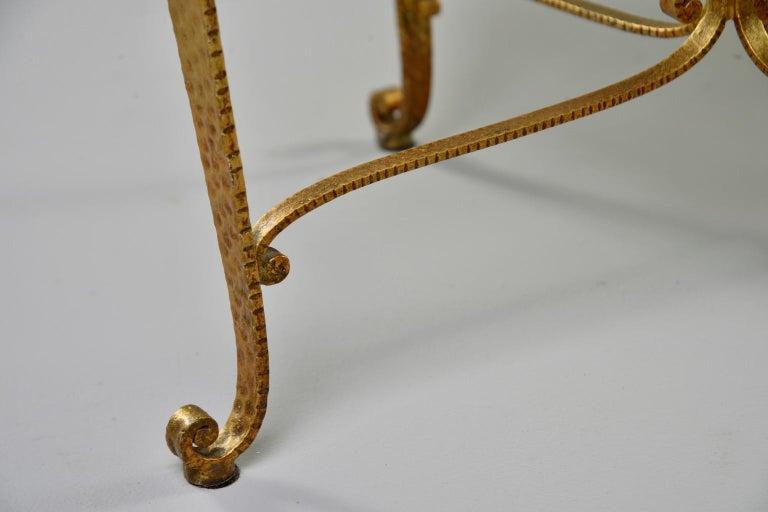 20th Century Gilt Iron Stool in the Style of Pier Luigi Colli