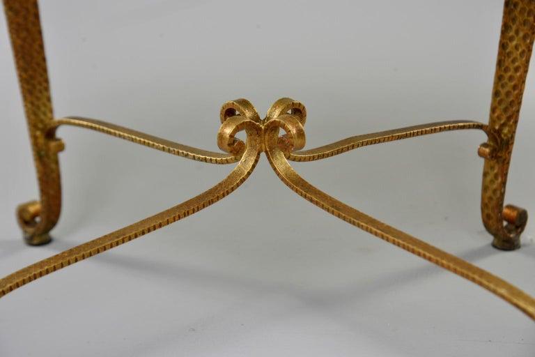 Gilt Iron Stool in the Style of Pier Luigi Colli 3