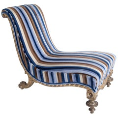 Gilt Lounge Chair, Italy/Lucca, circa 1825-1830