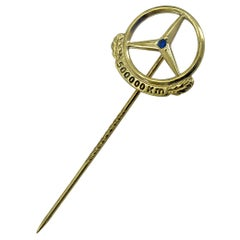 Gilt Mercedes Stick Pin