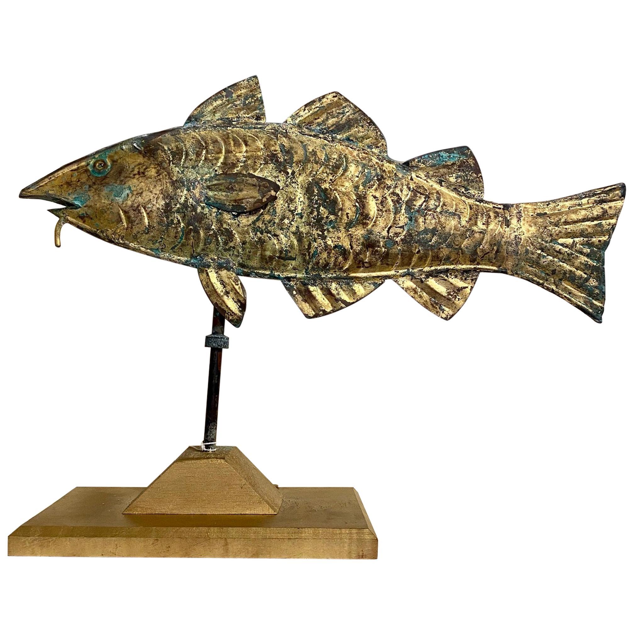 Gilt Metal Codfish Weather Vane, circa 1910