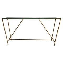 Gilt Metal Iron Base Console Table