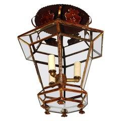 Gilt Metal Italian Lantern