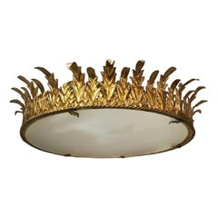 Gilt Metal Light Fixture